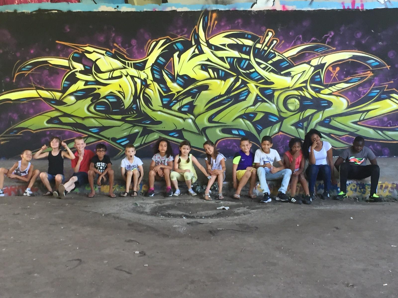 Graffiti feestje in Haarlem