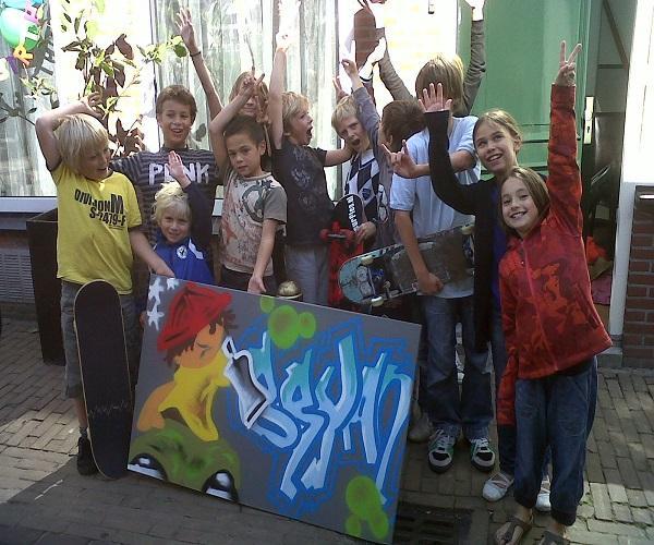 Graffiti feestje Nieuwegein