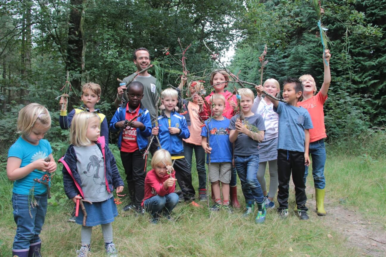 Kinderfeestje in de natuur met de Natuurpedagoog