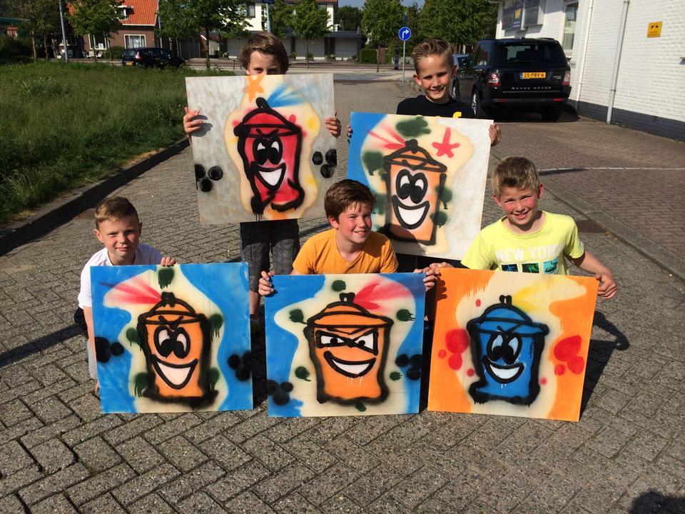 Kinderfeestje Graffiti
